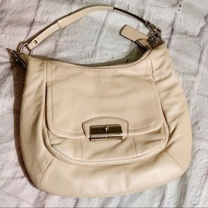 Coach Champagne Kristen Hobo Shoulder Bag Purse